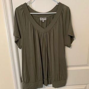 army green short sleeve